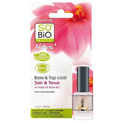 SO' BIO ETIC - Smalto Base e Top coat - Trasparente - 84, 5% di ingredienti naturali - Protegge e fortifica le unghie - Senza additivi chimici nocivi - 10 ml Yumi Bio Shop