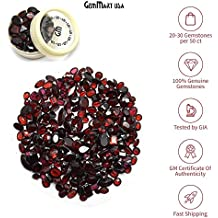 Wholesale 100 + Carats mix Red Garnet GEM MART USA GEMSTONES, Loose Faceted Stones, Red Garnet Cut Mix, AAAmazing Cut and Quality, Mix Gems, Mixed Gemstone, COA from Gem Mart Usa