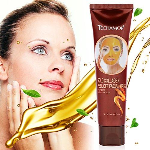 Gold Mask Gold Collagen Peel Off Facial Mask,  Reduces the Appearances of Wrinkles and Fine Lines, Brightening And Tightening The Skin by Vena Beauty 120g