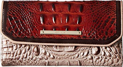 Brahmin Women's Soft Checkbook Wallet Pecan One Size by Brahmin