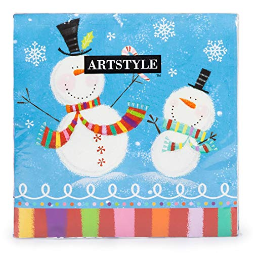 Artstyle Christmas Disposable Paper Party Supplies (120 ct Paper Napkin, Holiday Buddies)