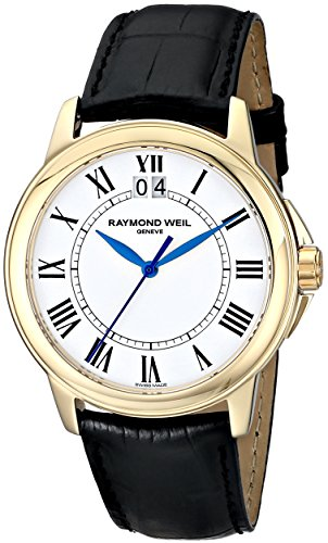 Raymond Weil Men's 5476-P-00300 Tradition Analog Display Swiss Quartz Black Watch