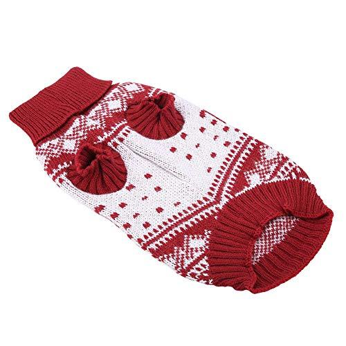 Goed uitziende grote rode huisdierenkleding, kersthondentrui, puppytrui, huisdierenkleding, voor thuis buiten(DYD59 red…
