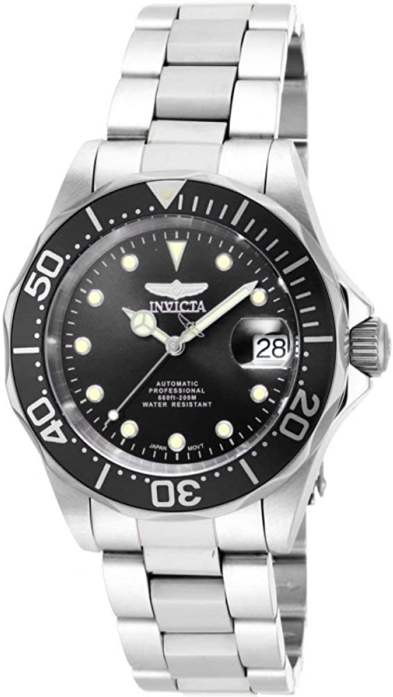 Invicta Men s 17039 Pro Diver Stainless Steel Watch with Link Bracelet
