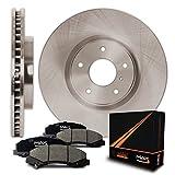 Front Premium OE Blank Rotors and Ceramic Pads Brake Kit KT053541 | Fits: 2008 08 2009 09 2010 10 Dodge Grand Caravan