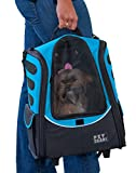 Pet Gear I-GO2 Escort Roller Backpack for cats and dogs, Ocean Blue