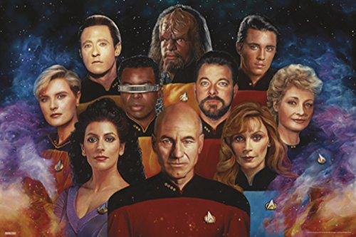 Pyramid America Star Trek The Next Generation 50th Anniversary TV Show Poster 24x36 inch -