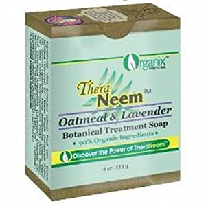 Oatmeal Lavender & Neem Oil Soap - 4 oz - Bar Soap