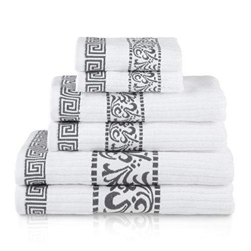 Simple Luxury Athens 6 Piece Towel Set