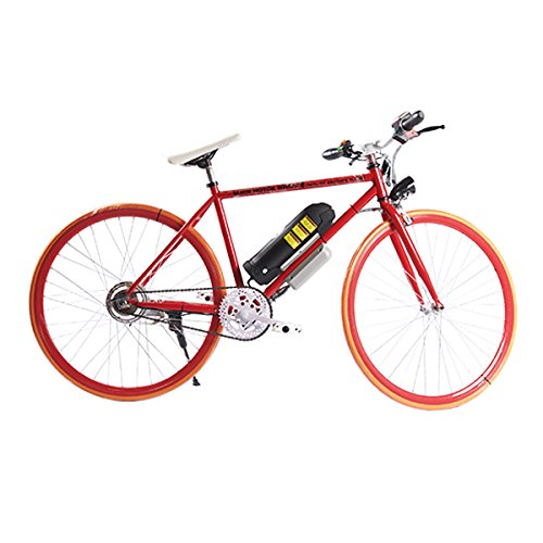 ELECTRIC Fixie Bike 350W 33MPH Alien Motor Wheels TM (RED/ORANGE/RED/BLACK)