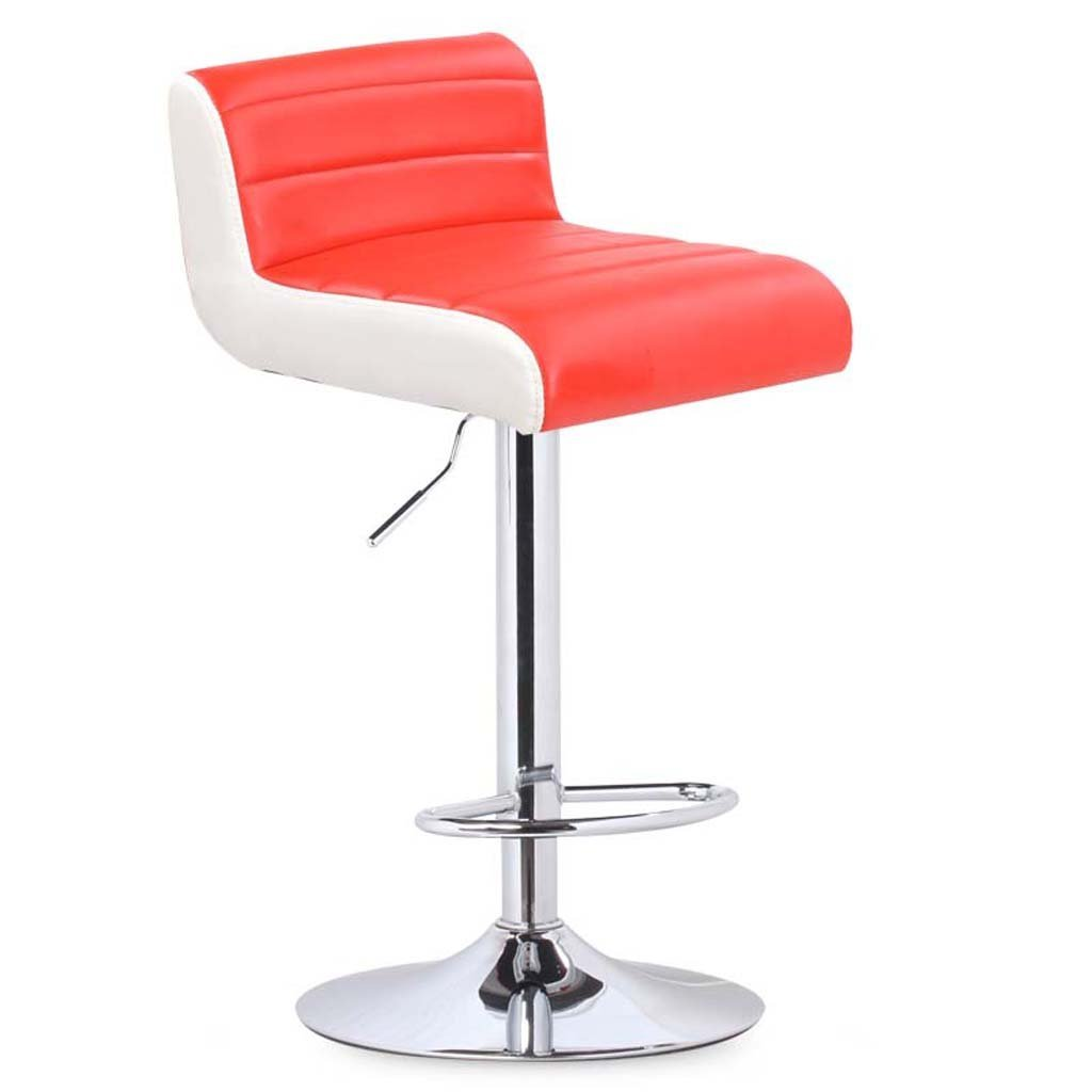 Red TLMY Bar Chair Chair Lift redating Bar Chair backrest Stool Chair (color   RED)