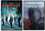Inception & The Revenant DVD 2 Pack Leonardo DiCaprio Movie Double Feature Set