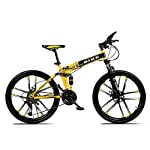 Novokart-Sport-PieghevoleMountain-Bike-2426-Pollici-10-taglierina-Giallo