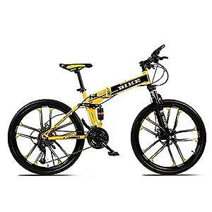 51q mQNQ%2B6L. SS300 Novokart-Sport Pieghevole/Mountain Bike 24/26 Pollici 10 taglierina, Giallo