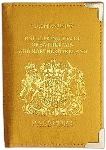 Wallet - Funda protectora para pasaporte británico y europeo de ...