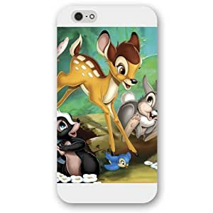 Customized White Frosted Disney Cartoon Movie Bambi For Case Samsung Galaxy S5 Cover , Only fit For Case Samsung Galaxy S5 Cover