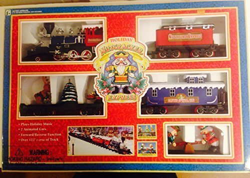 Holiday Nutcracker Express Christmas Train Set with 5 Cars Plus Track