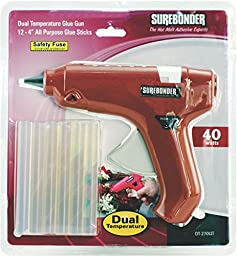 Surebonder DT-270KIT Full Size Dual Temperature Glue Gun with 12 - 4-Inch Standard All Purpose Glue Sticks