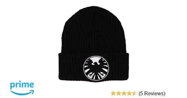 f22c8b18f Marvel Agents of SHIELD Hat - Knit Beanie Cap Black