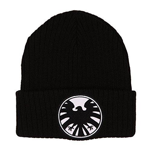 Marvel Agents of S.H.I.E.L.D. Hat - Knit Beanie Cap Black