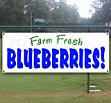 Fresh Blueberries 13 oz Heavy Duty Vinyl Banner Sign with Metal Grommets, New, Store, Advertising, Flag, (Many Sizes Available)