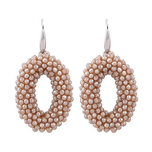 Big Drop Earrings For Woman Crystal Facded Beads Handmade Big Earrings Long Pendientes Wedding Earring Chrismas Gifts -