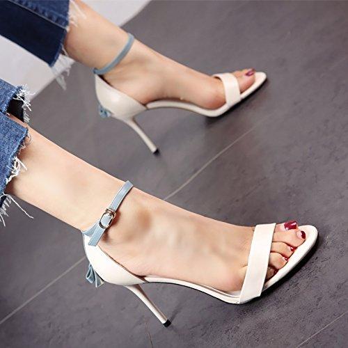 personalità dei e sandali moda dita piedi piccola le sexy con donna c la Estate alti tacchi festa YMFIE AqxR44