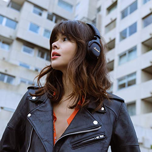 51q o joBZL - Marshall Mid ANC Active Noise Cancelling On-Ear Wireless Bluetooth Headphone, Black (04092138)