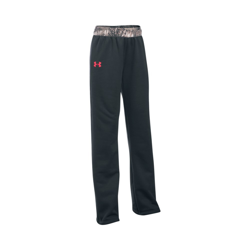 Under Armour Girls' Storm Caliber Pants, Anthracite/Pink Chroma, Youth Medium by Under Armour