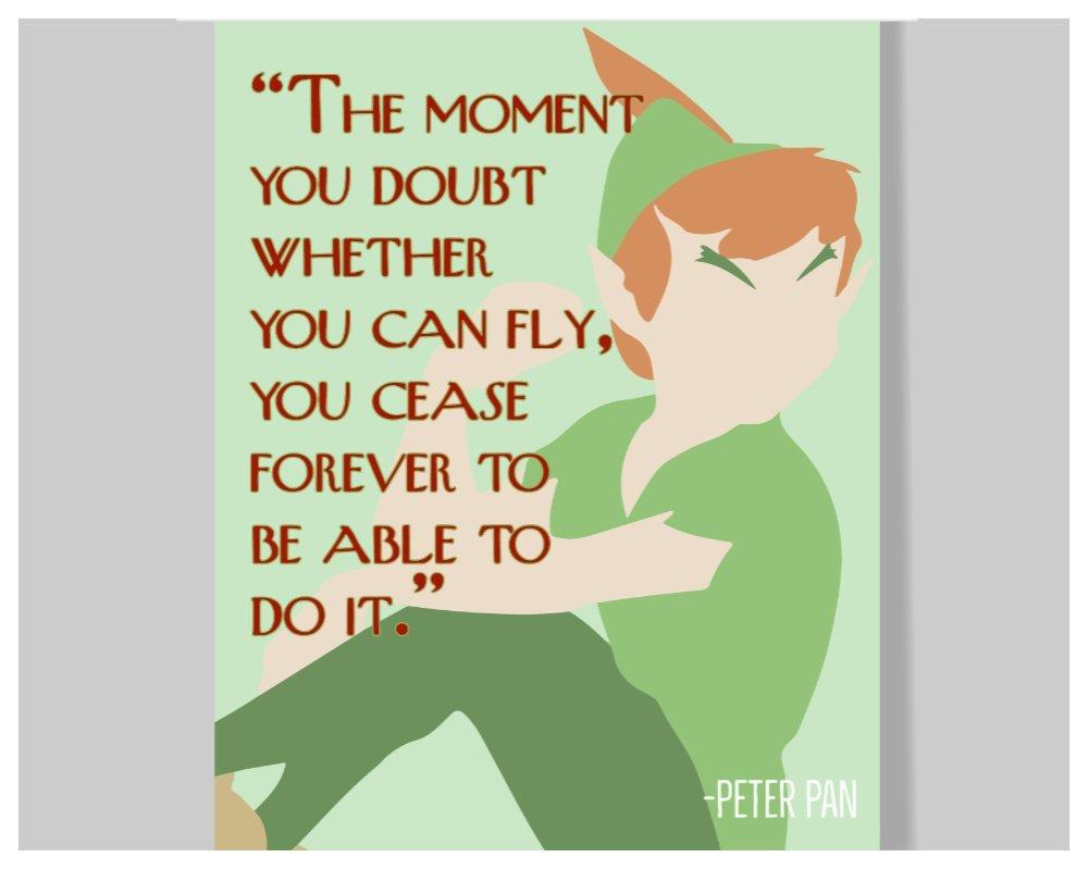 Amazon.com: Peter Pan Quote Poster – 16 x 20 – Motivational ...