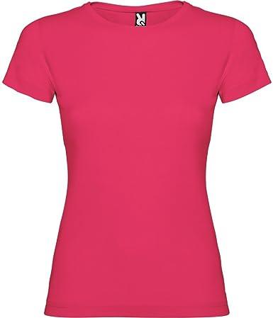 Camiseta Rosa Oscuro para Mujer, Manga Corta, 100% algodón: Amazon.es: Ropa y accesorios