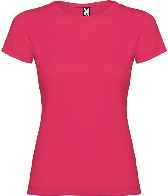 Camiseta de Mujer Manga Corta, Rosa Oscuro, Jamaica (M): Amazon.es: Ropa y accesorios