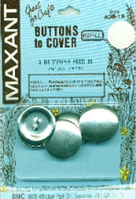 Maxant Button 3-Pack Cover Button Refill, 1-1/8-Inch by Maxant Button
