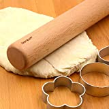 Bamber Wood Rolling Pin, 11 Inch by 1-1/5 Inch