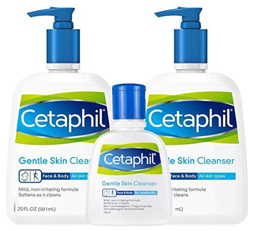 Cetaphil Gentle Skin Cleanser 2/20oz 4oz Bonus