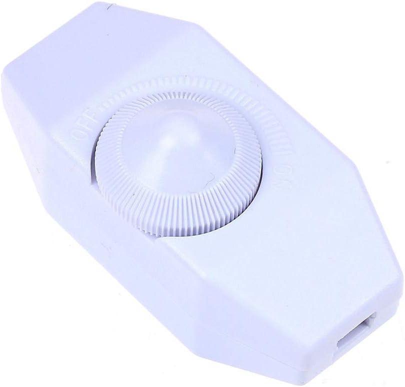 Variateur Contr/ôleur Durable R/églable Pratique Lampe Table Sol Home SY Install Accessoires 904 220V 1A Bouton Rotatif Bureau Bouton Manuel Blanc