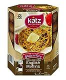 Blue Dog Kitchen Bar Katz Gluten Free Cinnamon Raisin English Muffins 8.5 Ounce (Pack of 6)