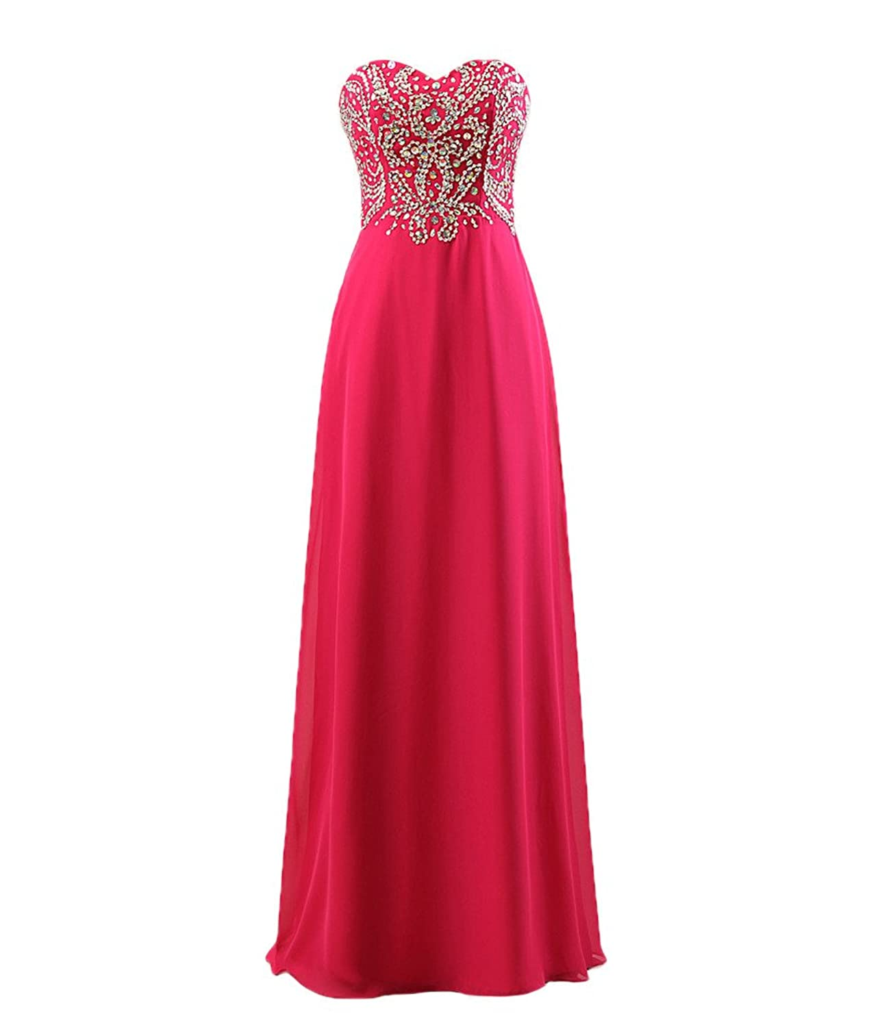 Fanmu Womens Sparkly Sweetheart Prom Dress Form Party Evening Gown