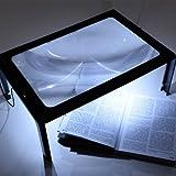 CLE DE TOUS - Lupa con Luz LED de Soporte y Patas Plegables para Leer Tejer Coser Hacer Puzzle