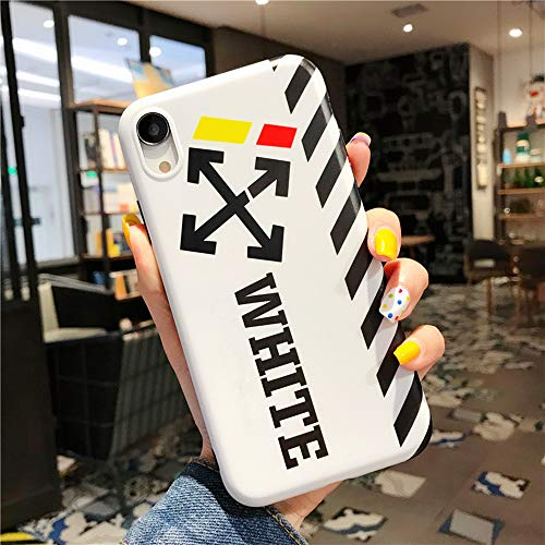 iPhone Xr Case Street Fashion Design, Flexible Durable Full-Protective Back Case Cover for iPhone Xr 6.1inch (White)