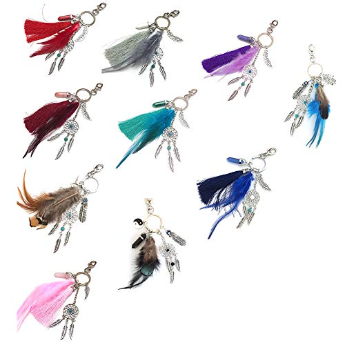 Afco Dream Catcher Pendant Keychain Car Key Ring Bag Hanging Decor Gift Red by Afco (Image #7)