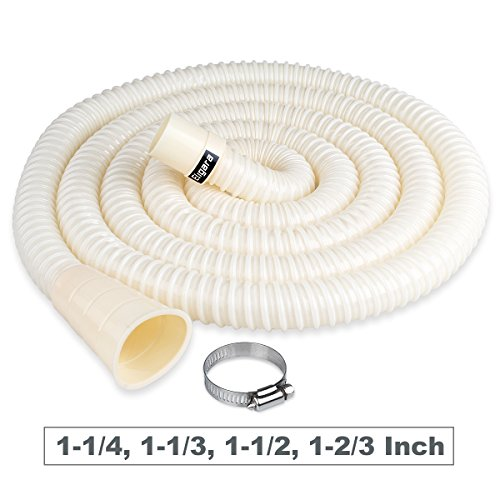 Washing Machine Drain Hose by Eligara | Long Discharge Pipe, Universal Fit All Washer Drain Hose Extension/Replacement Kit (10 Feet, New)