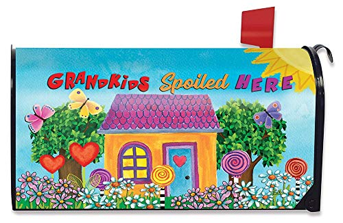 Briarwood Lane Grandkids Spoiled Here Floral Magnetic Mailbox Cover Everyday
