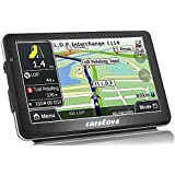 Carelove New 766 Car GPS 7 Inch Navigation Touch Screen SD Card With Newest Map Build-In Lifetime Free Map Update