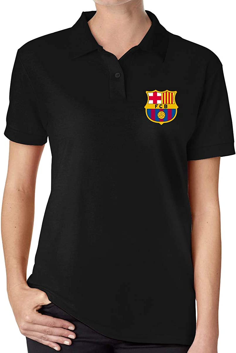 UP LUCK FC Barcelona Women Premium Office Polo Shirt: Amazon.es ...