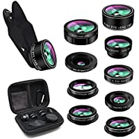 Cell Phone Camera Lens,TODI 9 in 1 Wide Angle Lens,Macro...