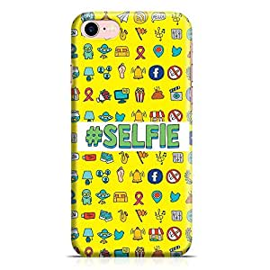 Loud Universe iPhone 7 Case Hashtag Selfie Icons Slim Profile Light weight Wrap Around iPhone 7 Cover