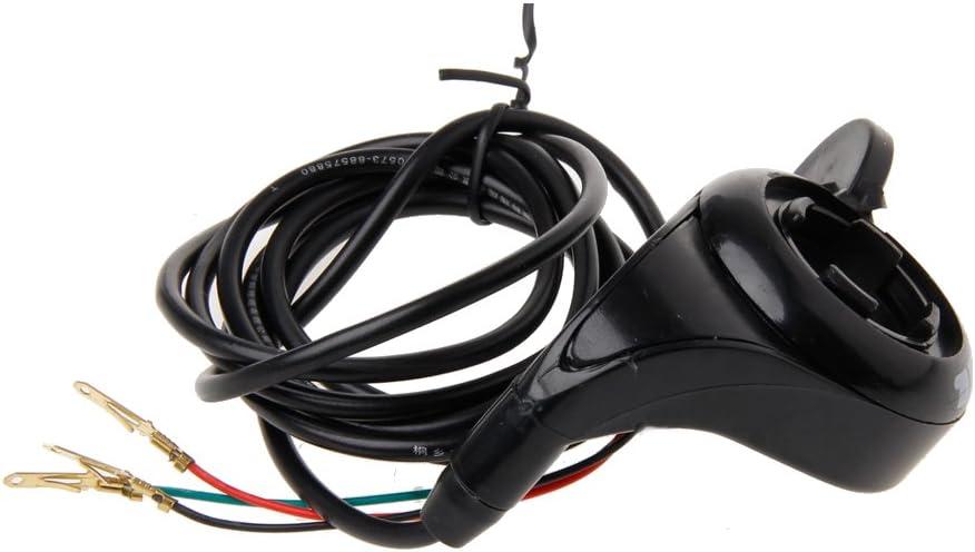 VAILANG 24v 36v 48v Moto 7//8 Guidon Noir Pouce Acc/él/érateur V/élo /Électrique Scooter E-v/élo Acc/él/érateur Noir