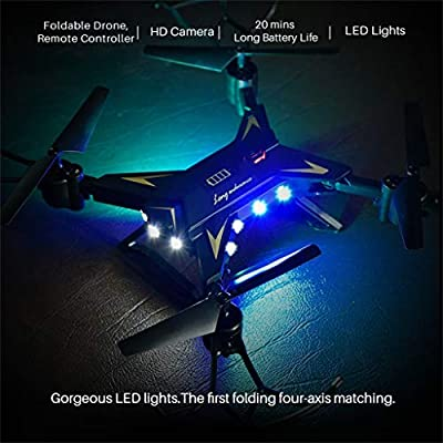 20MINS Long Flight Time Drone, RC Drone with 720P HD Camera Live Video WiFi FPV Quadcopter with Headless Mode,Altitude Hold 6Axis 2.4G Helicopter
