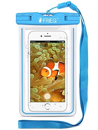FRiEQ Waterproof Case for Outdoor Activities - Waterproof Bag/Pouch for Smartphones - IPX8 Certified to 100 Feet (Blue)